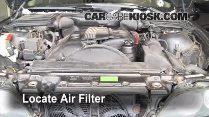 2002 BMW 530i 3.0L 6 Cyl. Filtro de aire (motor)
