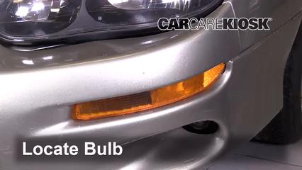 2002 Chevrolet Camaro 3.8L V6 Convertible Luces Luz de giro delantera (reemplazar foco)