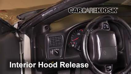 2002 Chevrolet Camaro 3.8L V6 Convertible Capot