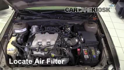 2002 Chevrolet Malibu LS 3.1L V6 Filtre à air (moteur)
