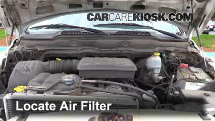 2002 Dodge Ram 1500 4.7L V8 Crew Cab Pickup (4 Door) Filtro de aire (motor)
