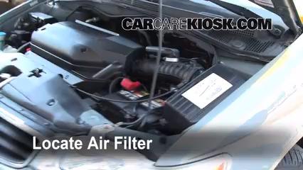 2002 Honda Odyssey EX 3.5L V6 Filtro de aire (motor)