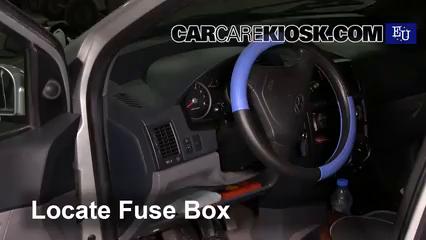 2002 Hyundai Getz GL 1.1L 4 Cyl. Fusible (interior)