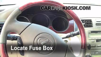 Interior Fuse Box Location 2002 2006 Lexus Es300 2002 Lexus Es300 3 0l V6