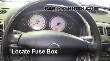Interior Fuse Box Location 2000 2003 Nissan Maxima 2002 Nissan Maxima Gle 3 5l V6