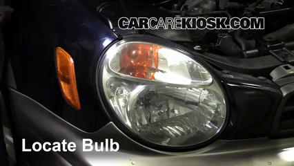 2002 Subaru Outback 2.5L 4 Cyl. Lights Daytime Running Light (replace bulb)