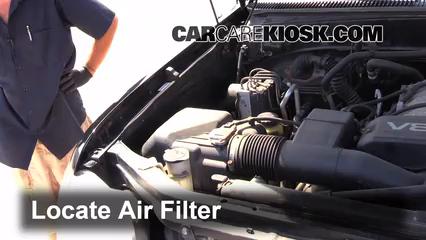 2002 Toyota Sequoia SR5 4.7L V8 Filtro de aire (motor) Control