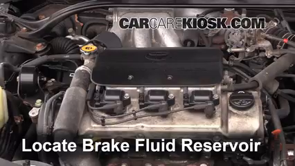 2002 Toyota Solara SLE 3.0L V6 Coupe Brake Fluid