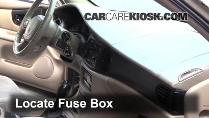 interior fuse box location 1997 2004 buick regal 2003 buick regal 2004 Buick Century Fuse