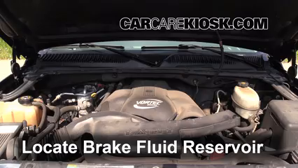 2003 Cadillac Escalade 6.0L V8 Brake Fluid Check Fluid Level