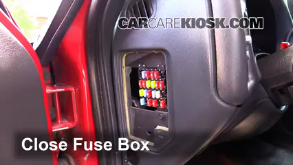 interior fuse box location: 1994-2004 chevrolet s10 - 2003 chevrolet s10  2 2l 4 cyl  standard cab pickup (2 door)