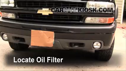 Oil & Filter Change Chevrolet Suburban 1500 (2000-2006) - 2003 ...