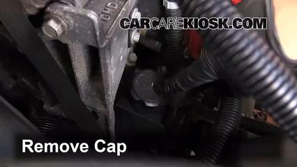 determine the power steering fluid level