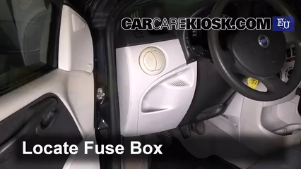 interior fuse box location 2000 2010 fiat punto 2003. Black Bedroom Furniture Sets. Home Design Ideas