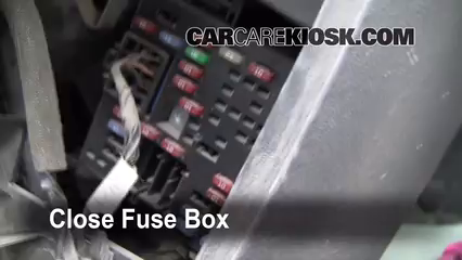 Interior Fuse Box Location 1999 2007 GMC Sierra 1500