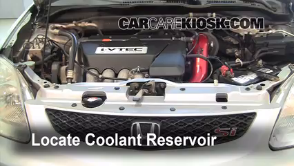 2003 Honda Civic Si 20L 4 Cyl Coolant Antifreeze Flush