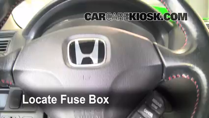 Interior Fuse Box Location: 2001-2005 Honda Civic - 2003 Honda Civic ...