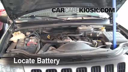 2003 Jeep Grand Cherokee Laredo 4.0L 6 Cyl. Battery Replace