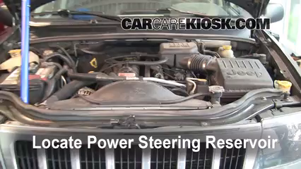 2003 Jeep Grand Cherokee Laredo 4.0L 6 Cyl. Fluid Leaks Power Steering Fluid (fix leaks)
