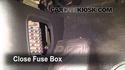 interior fuse box location 2003 2009 kia sorento 2003. Black Bedroom Furniture Sets. Home Design Ideas