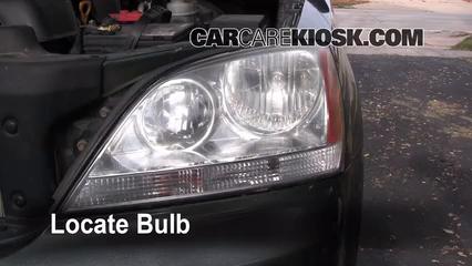 2003 kia sorento ex 3 5l v6 lights parking light (replace bulb)