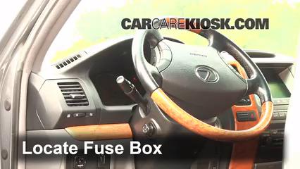 locate interior fuse box and remove cover