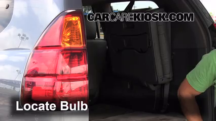2003 Lexus GX470 4.7L V8 Lights Tail Light (replace bulb)