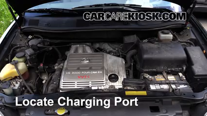 How to Add Refrigerant to a 1999-2003 Lexus RX300 - 2000