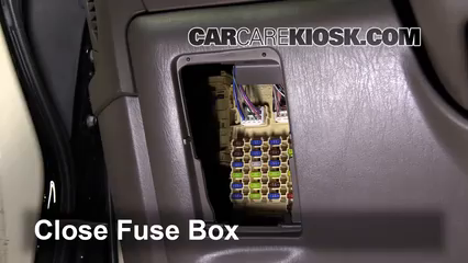 interior fuse box location   lexus rx