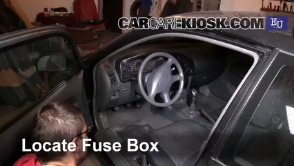 interior fuse box location 1995 2003 mitsubishi colt 2003 Outside Fuse Box