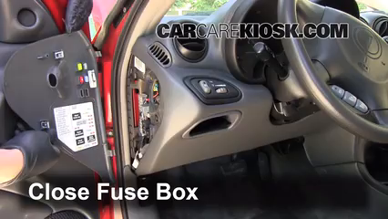 interior fuse box location   pontiac grand