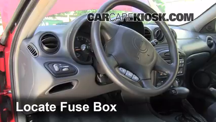 Interior Fuse Box Location: 1999-2005 Pontiac Grand Am - 2003 Pontiac Grand  Am SE1 3.4L V6 Sedan (4 Door)CarCareKiosk