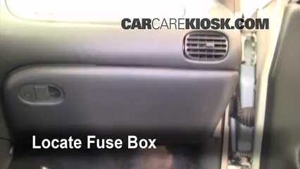 interior fuse box location 1997 2003 pontiac grand prix 2003 2005 pontiac grand prix orifice tube locate interior fuse box and remove cover