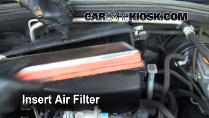 replace filter insert the filter and put everything back in place