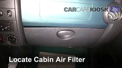 2003 Citroen Berlingo MultiSpace 1.4L 4 Cyl. Filtre à air (intérieur)