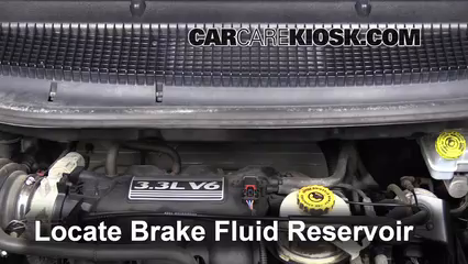 2003 Dodge Caravan SE 3.3L V6 FlexFuel Brake Fluid Add Fluid