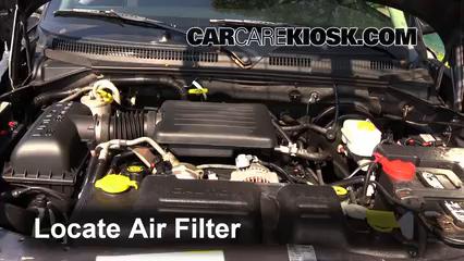 2003 Dodge Dakota SLT 4.7L V8 Crew Cab Pickup (4 Door) Filtre à air (moteur)