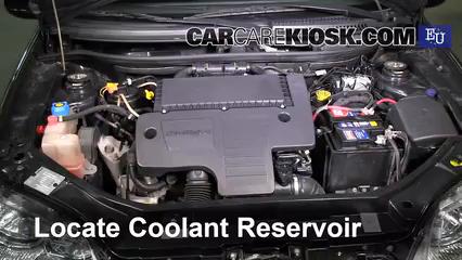 2003 Fiat Punto EX 1.3L 4 Cyl. Turbo Diesel Antigel (Liquide de Refroidissement) Vérifiez le niveau d'antigel