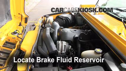 2003 Hummer H2 6.0L V8 Brake Fluid Check Fluid Level