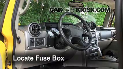Interior Fuse Box Location: 2003-2009 Hummer H2 - 2003 Hummer H2 6.0L V8 | Battery For Hummer H2 Fuse Box |  | CarCareKiosk