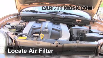 2003 Hyundai Santa Fe GLS 3.5L V6 Air Filter (Engine)