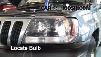 2003 Jeep Grand Cherokee Laredo 4.0L 6 Cyl. Lights Highbeam (replace bulb)