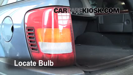 2003 Jeep Grand Cherokee Laredo 4.0L 6 Cyl. Lights Turn Signal - Rear (replace bulb)