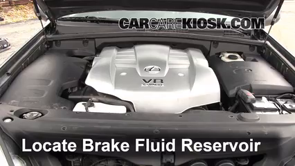 2003 Lexus GX470 4.7L V8 Brake Fluid Check Fluid Level