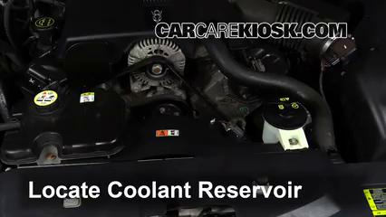 2003 Lincoln Town Car Cartier 4.6L V8 Refrigerante (anticongelante) Cambiar refrigerante