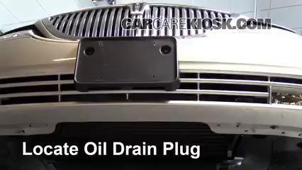 2003 Lincoln Town Car Cartier 4.6L V8 Aceite Cambiar aceite y filtro de aceite