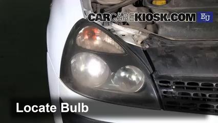 2003 Renault Clio dCi 1.5L 4 Cyl. Turbo Diesel Luces Luz de carretera (reemplazar foco)