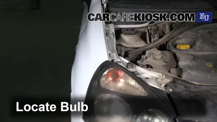 2003 Renault Clio dCi 1.5L 4 Cyl. Turbo Diesel Luces Luz de giro delantera (reemplazar foco)