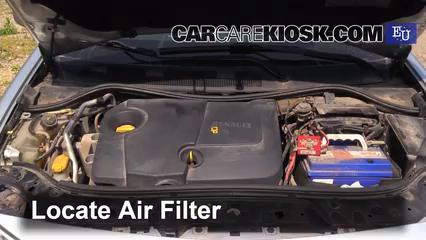 2003 Renault Megane Authentique 1.5L 4 Cyl. Turbo Diesel Air Filter (Engine)