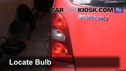 2003 Suzuki Wagon R 1.3L 4 Cyl. Luces Luz trasera (reemplazar foco)